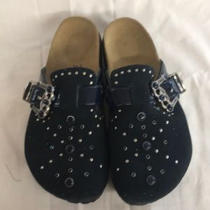 e4166d330f9552 Birkenstock Shoes - Blue jeweled Betula Birkenstocks.